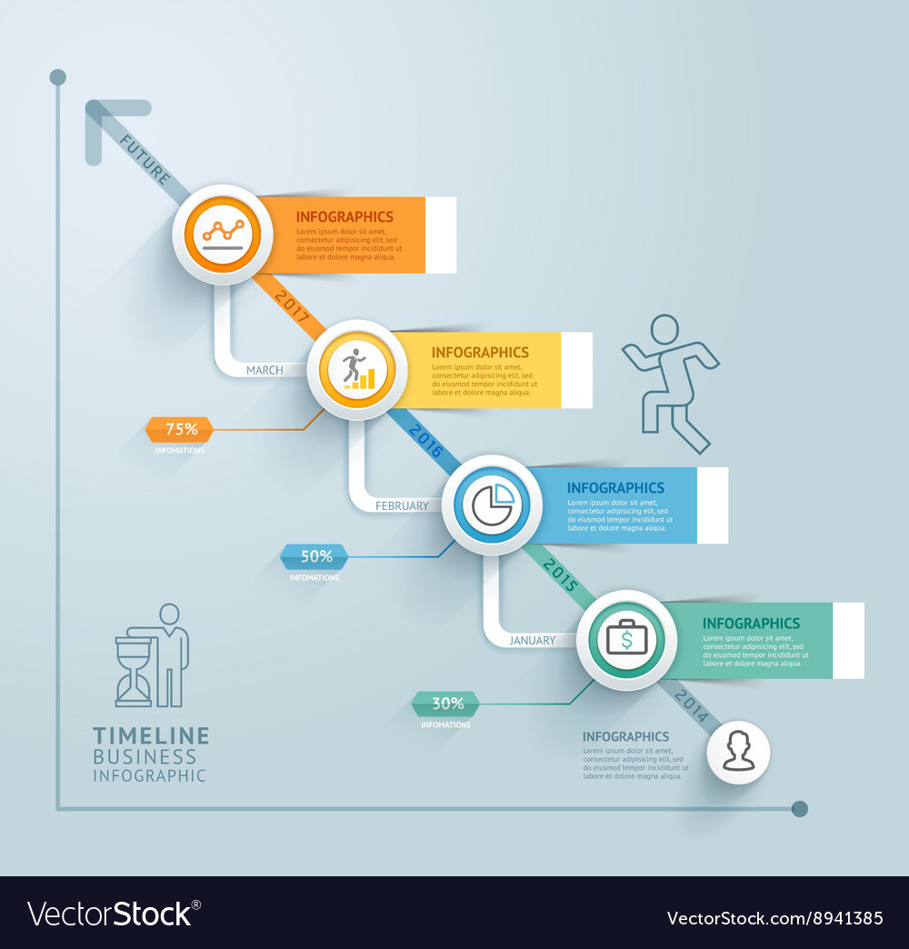 Business timeline infographics template royalty free vector business timeline infographics template vector image friedricerecipe Choice Image