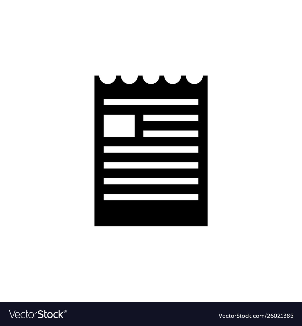 Document file torn brochure icon