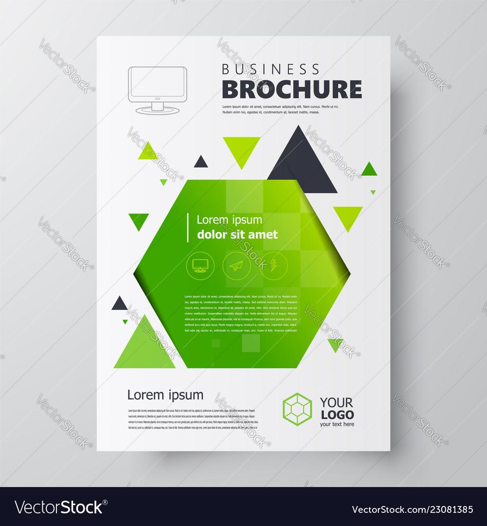 Flyer brochure design template geometric theme