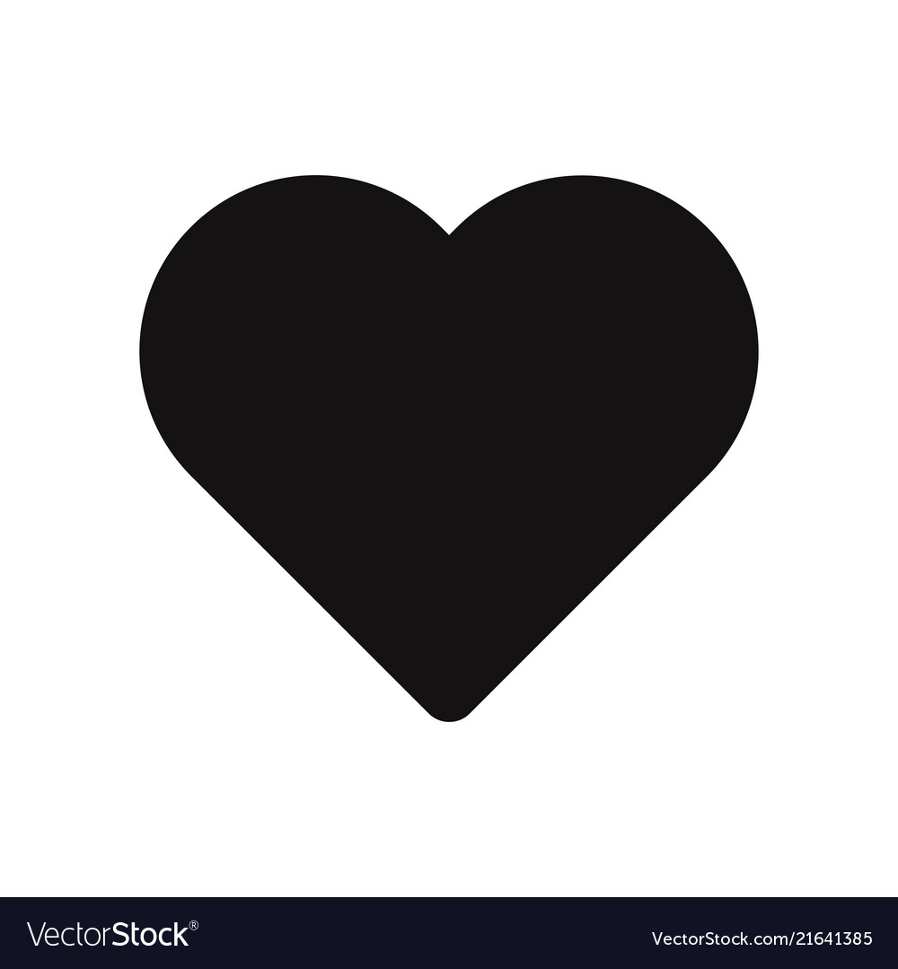 Heart icon isolated on white background love