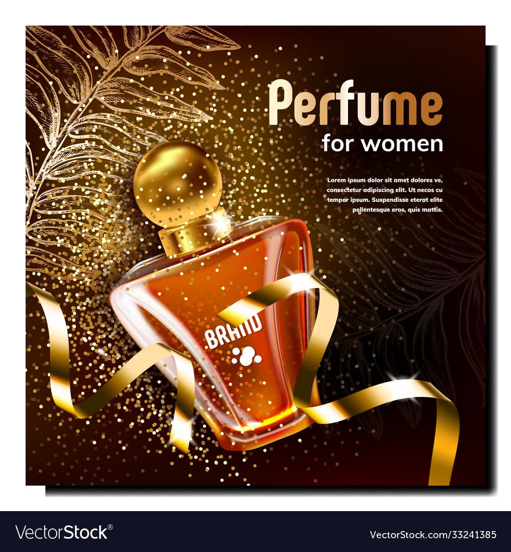 Perfume for women creative promo poster