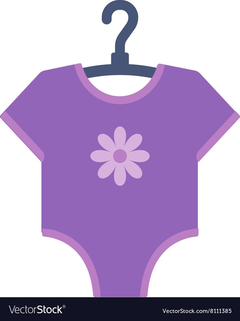 Purple bodysuit for baby
