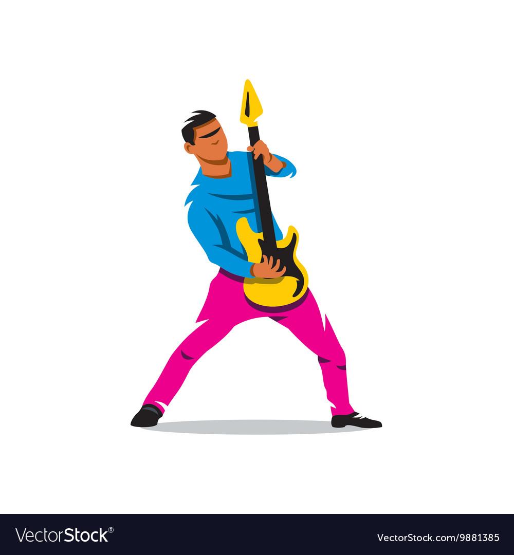 Rock Guitarist Cartoon