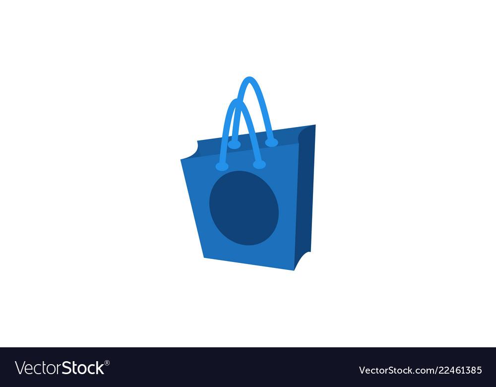 Shopping bag logo design inspiration isolated on