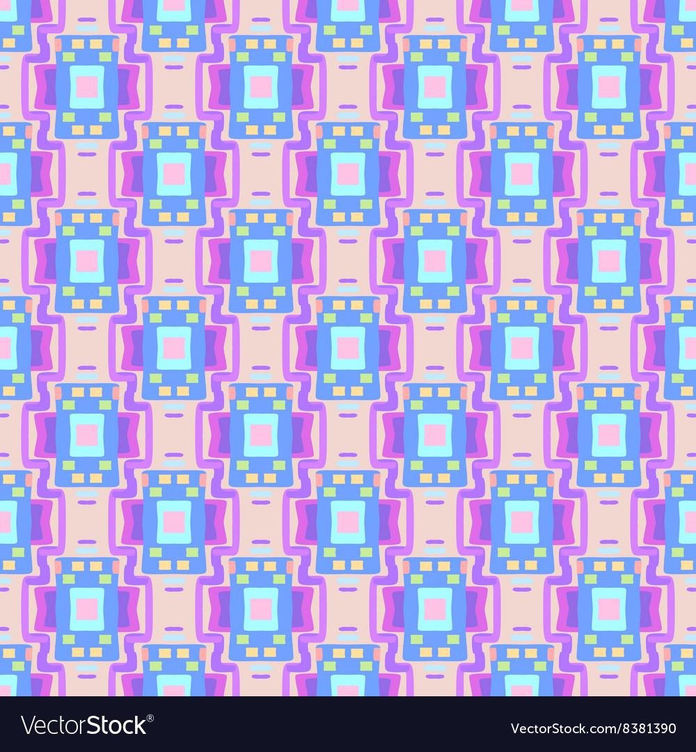 Geometric Seamless blue pink rectangle Pattern