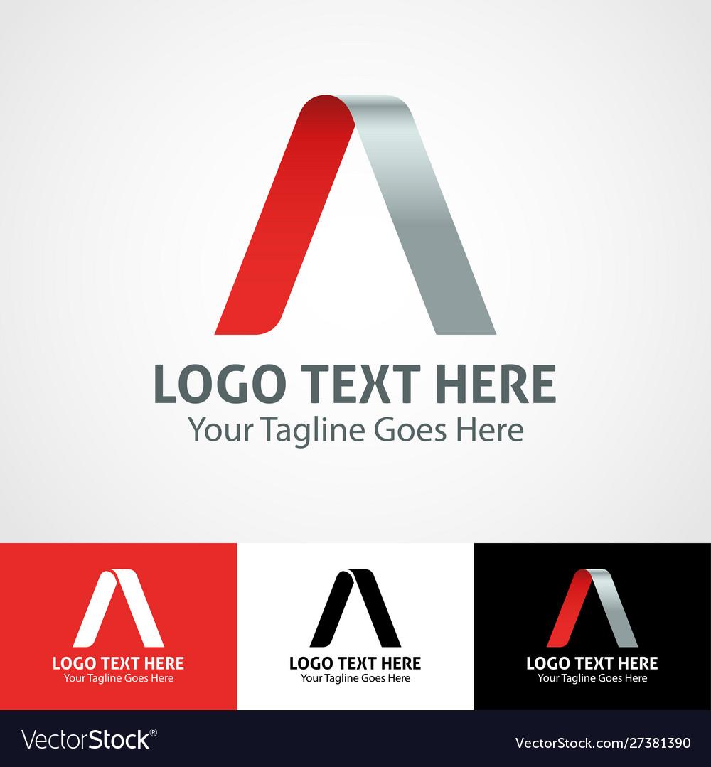 Hi-tech trendy initial icon logo a