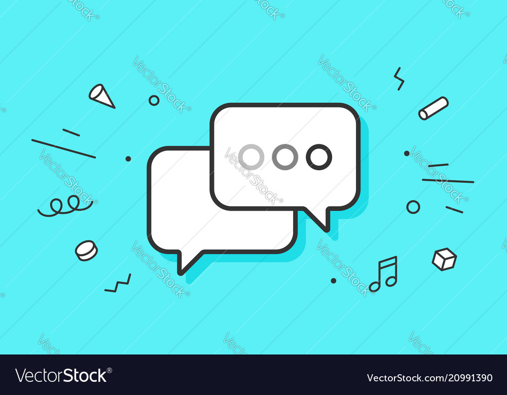 Icon of dialog messages