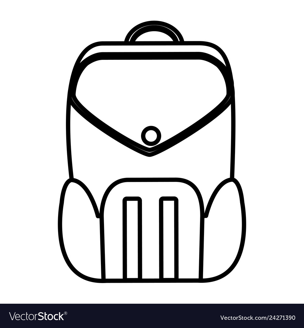 Line Education Backpack School Tool Design Vector Image
