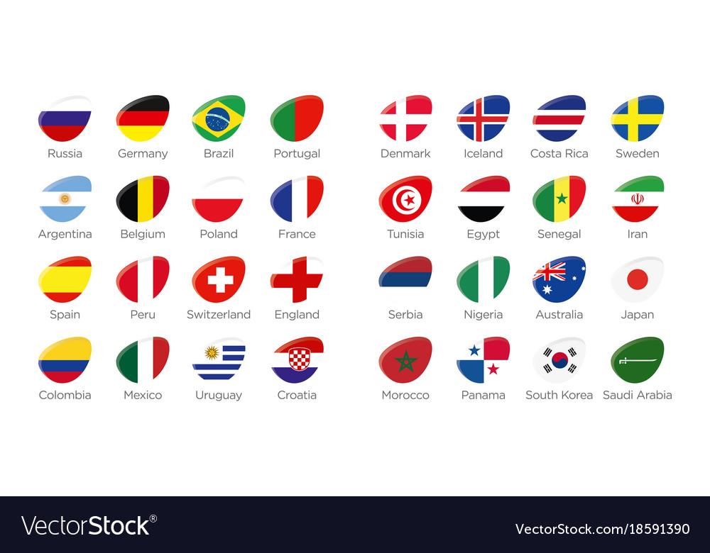 Modern Ellipse Symbols Of All Compeitors Of Russia