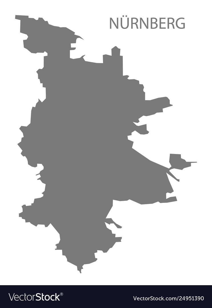 Nuremberg Map Of Germany.Nuremberg Grey County Map Bavaria Germany