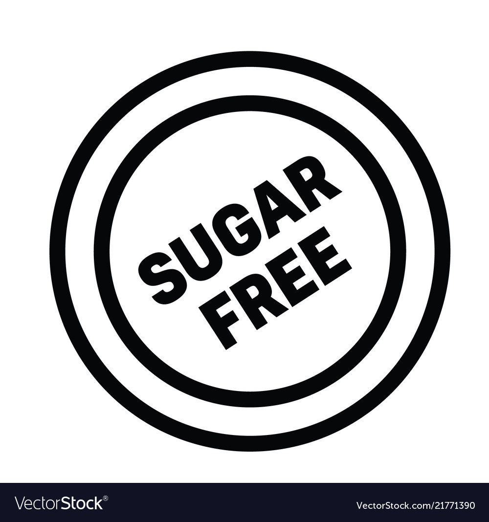 Sugarfree rubber stamp vector image on VectorStock