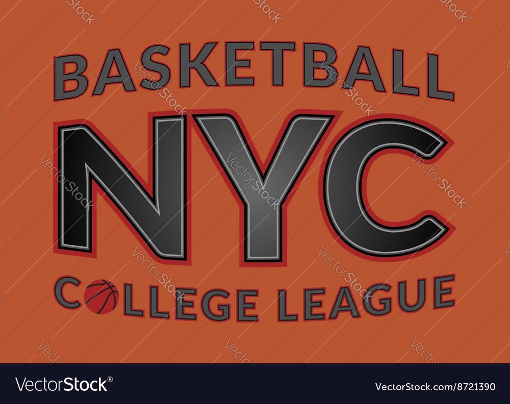 T shirt typography graphic New York city