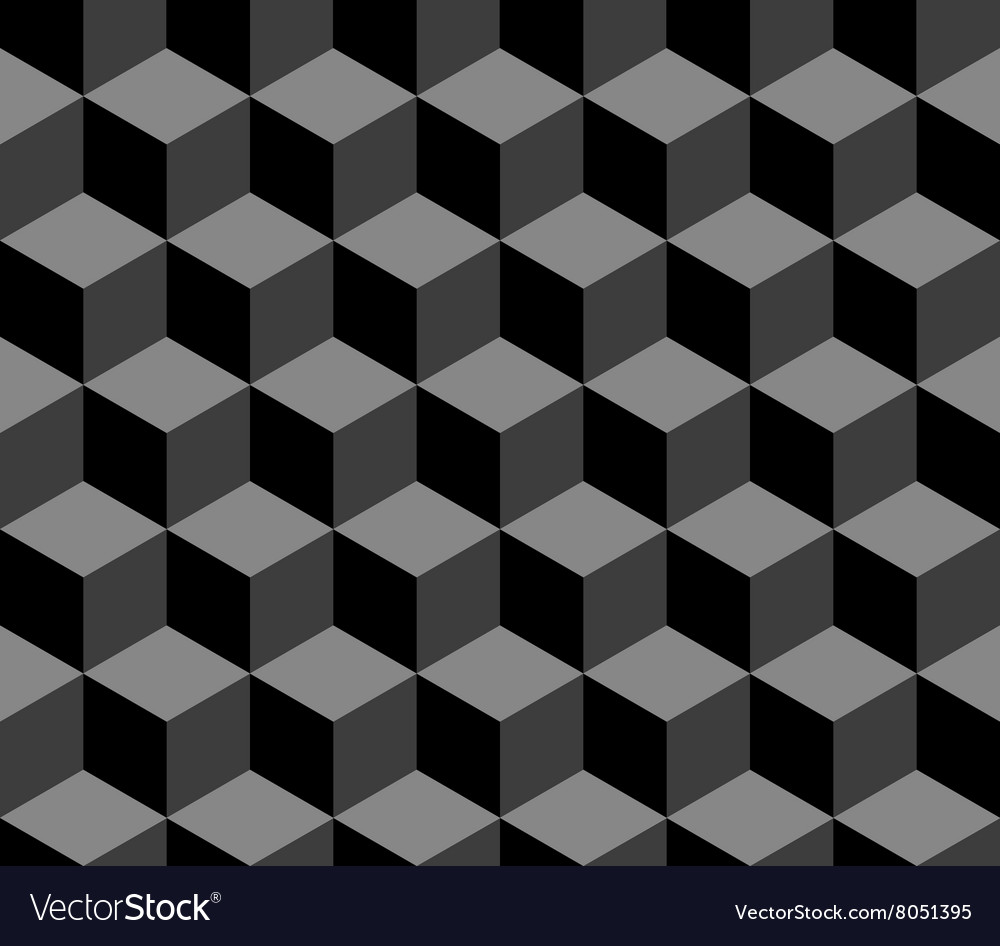 Abstract 3d cubes geometric seamless pattern in