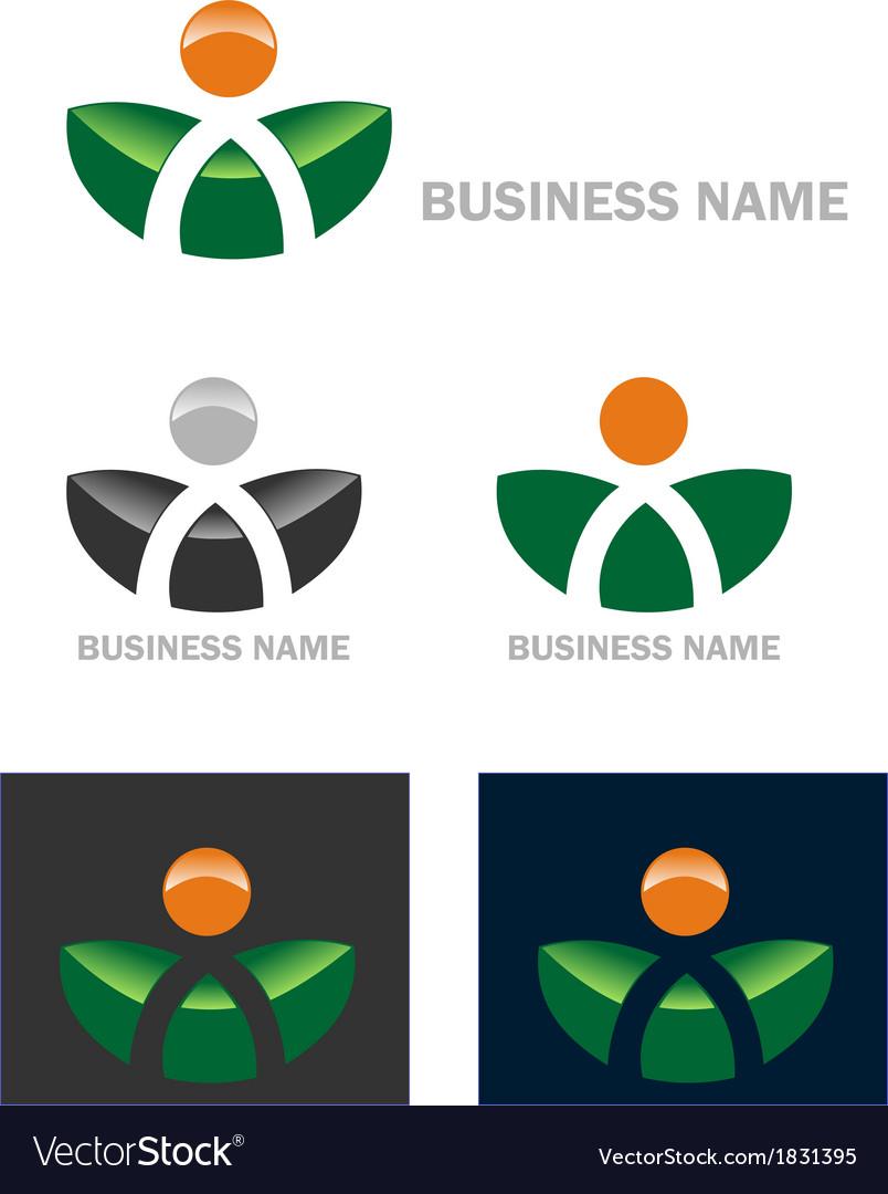 Business web icon logo
