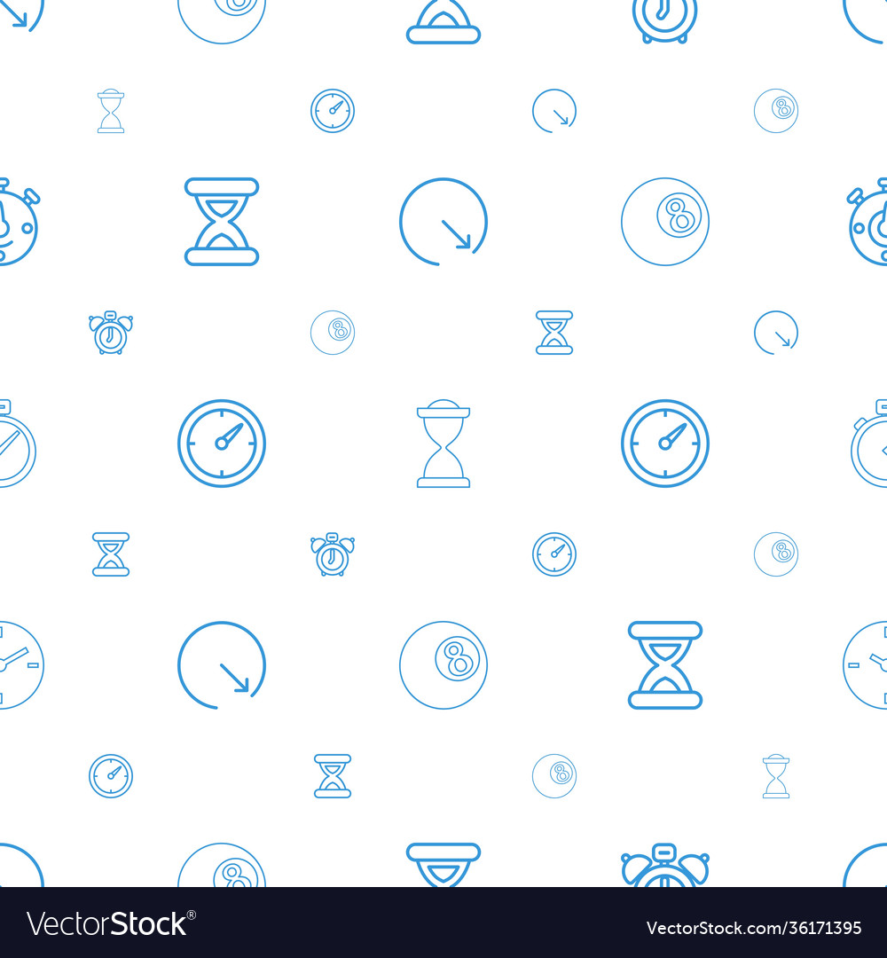 Clock icons pattern seamless white background