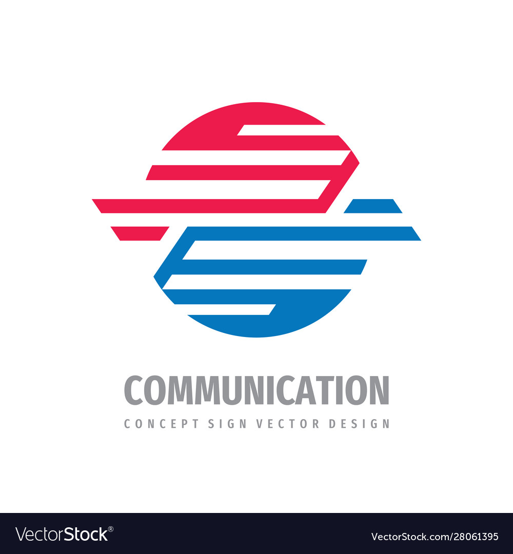 Communication logo concept design abstract