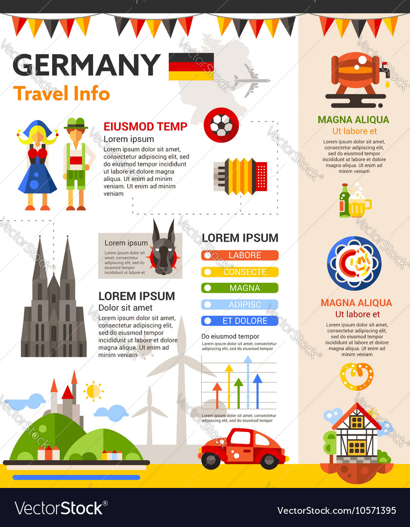 Germany travel info - poster brochure cover