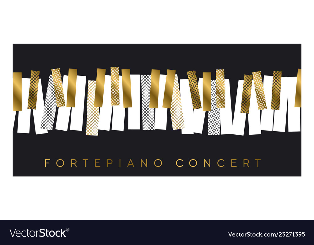 Gold and black invitation for music concert