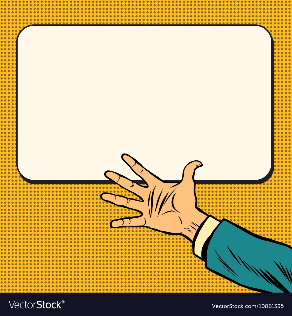 Hand open palm on white background poster vector image