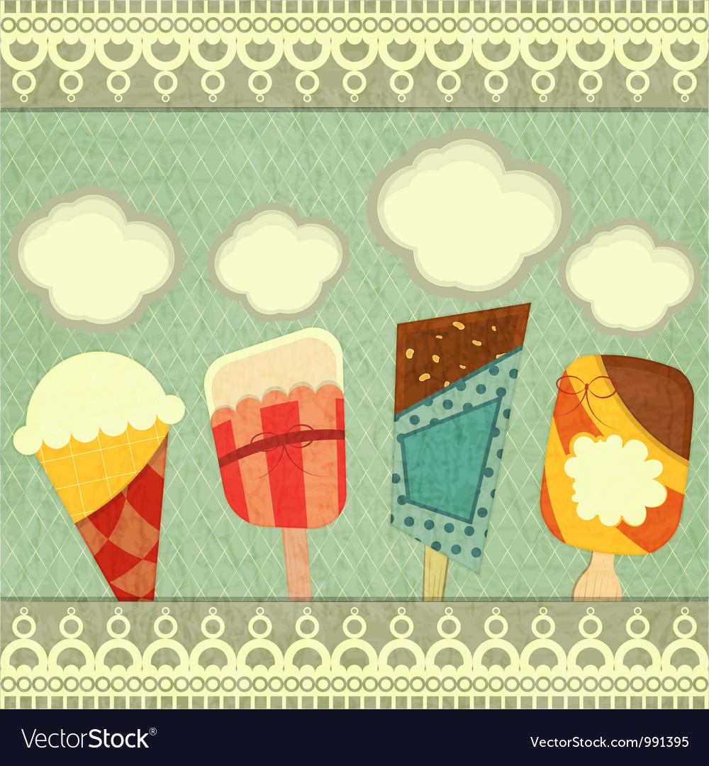 Ice cream retro price vector image