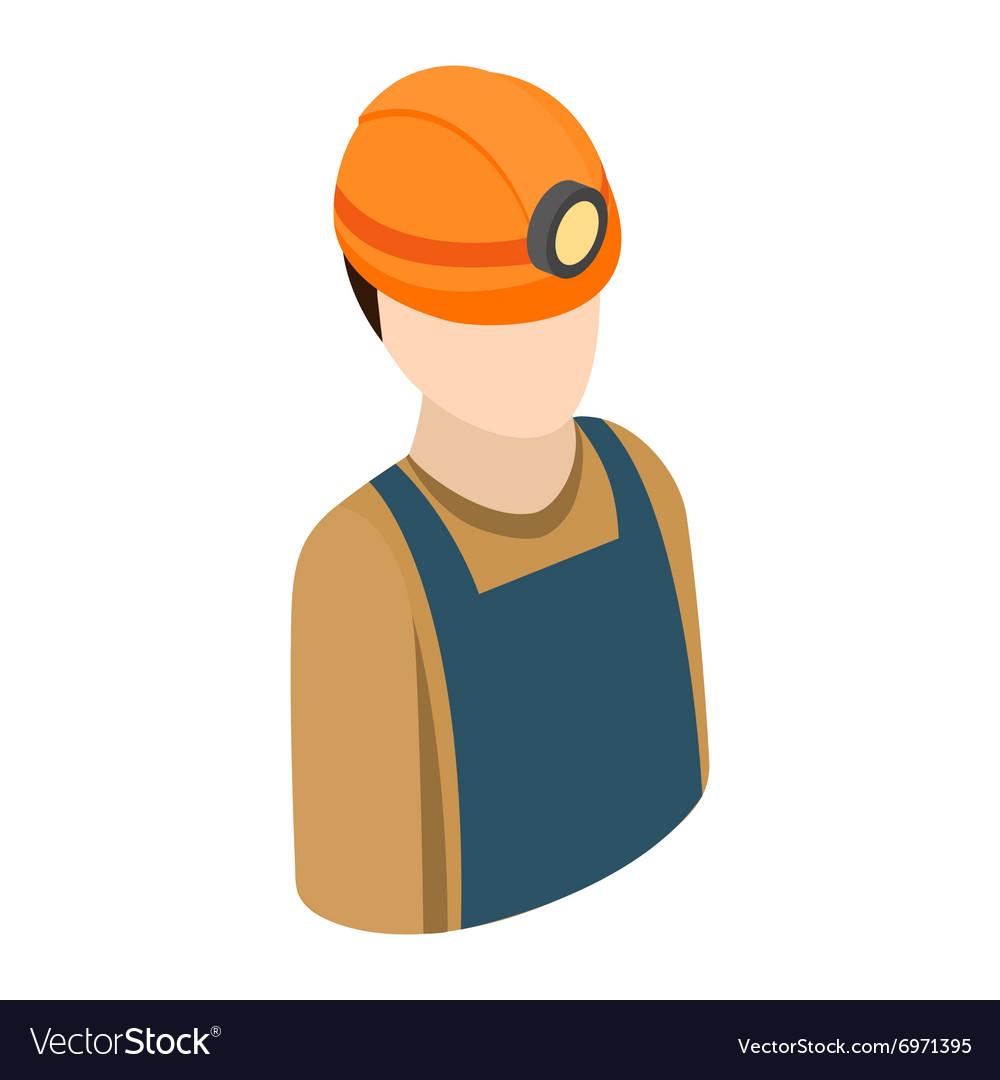 Miner isometric 3d icon