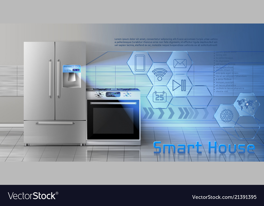 Smart house concept background