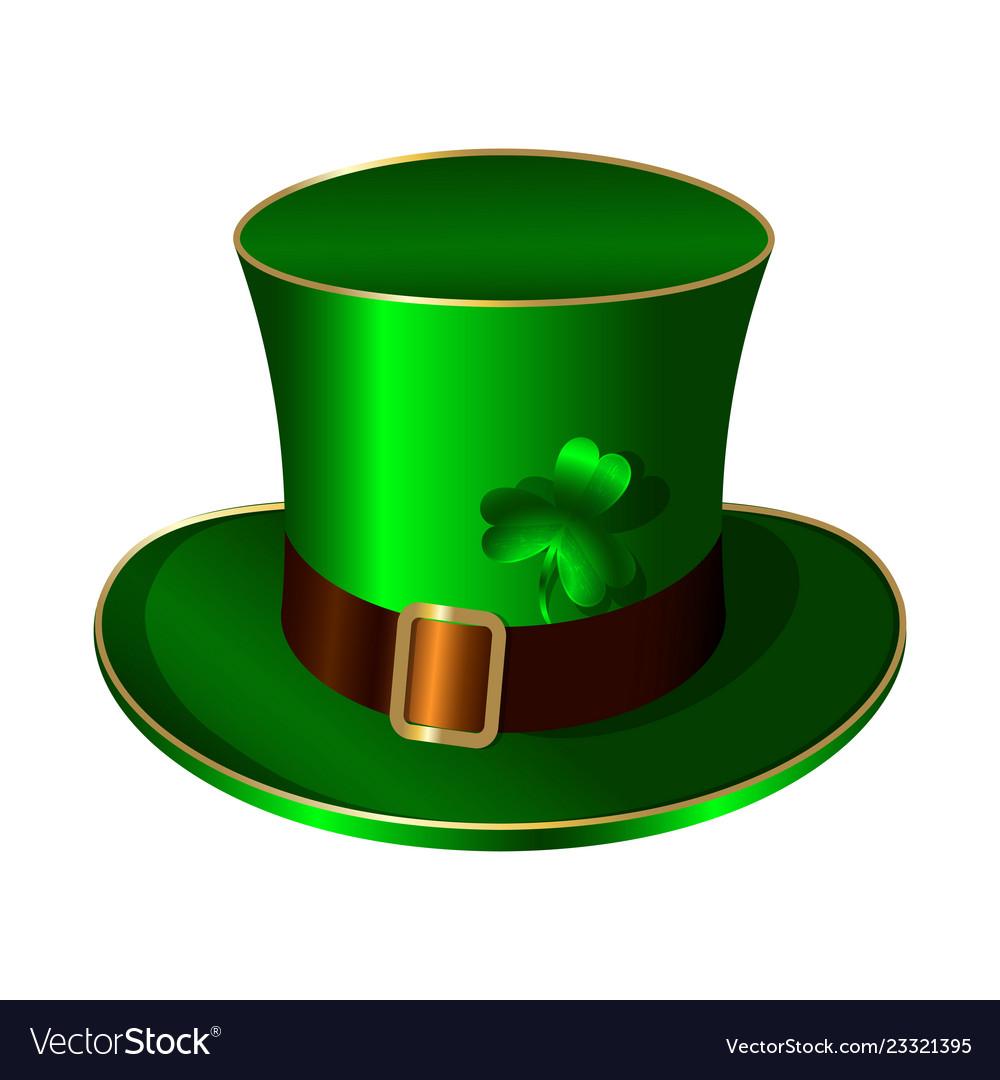 St patricks day green hat belt buckle shamrock