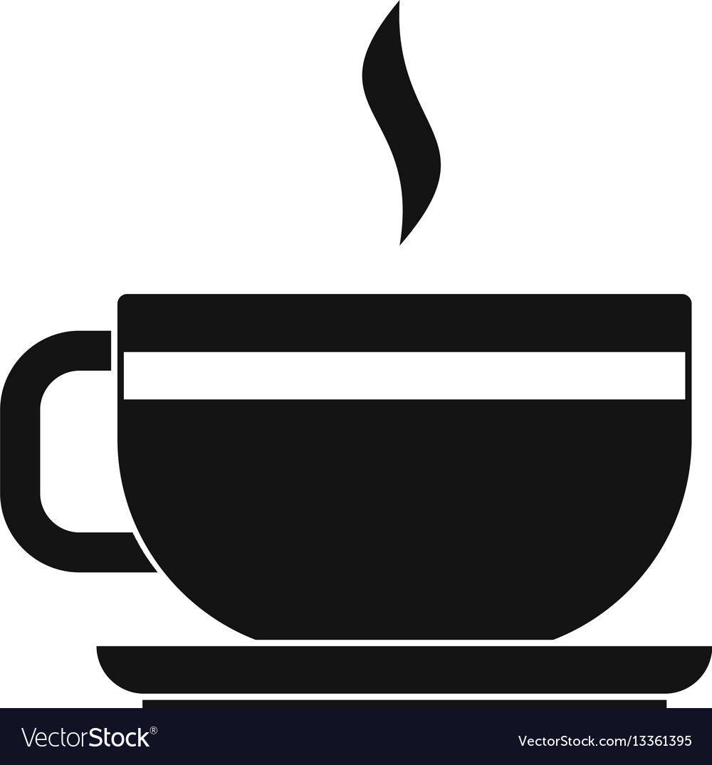 Tea cup and saucer icon simple style