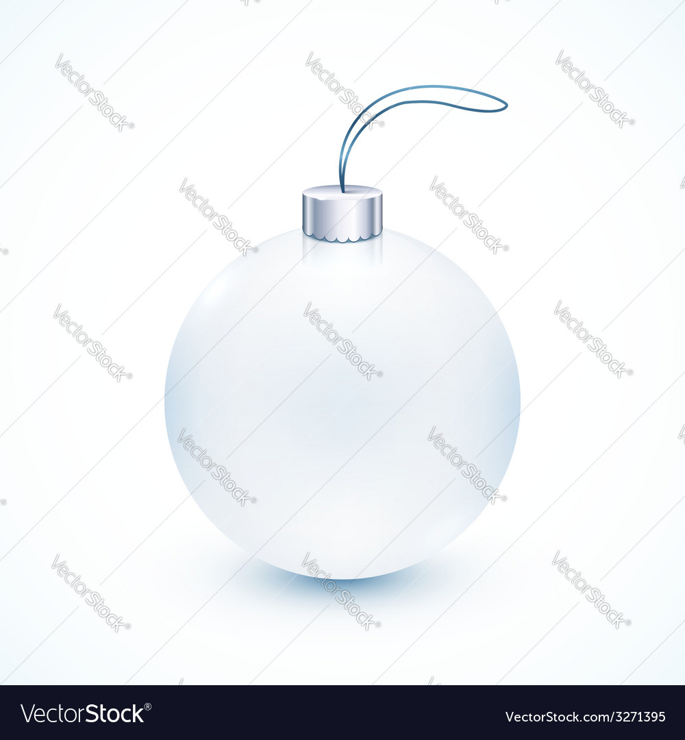 White Christmas ball