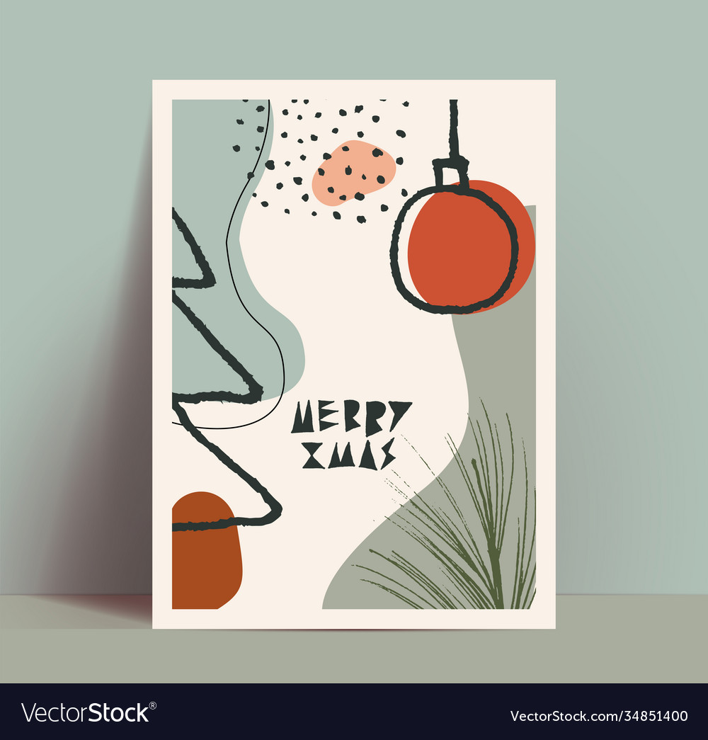 Abstract retro vintage styled christmas poster