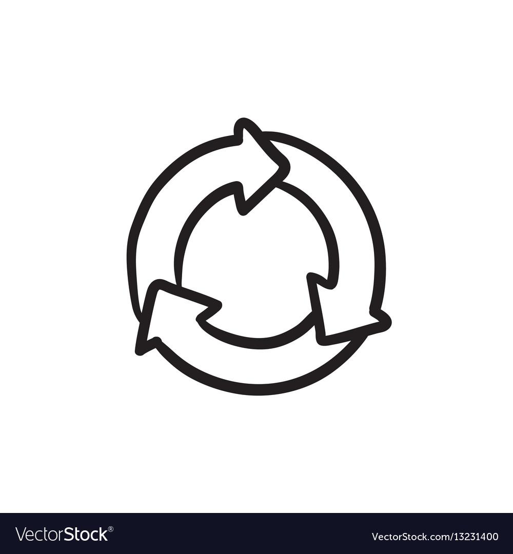 Arrows circle sketch icon