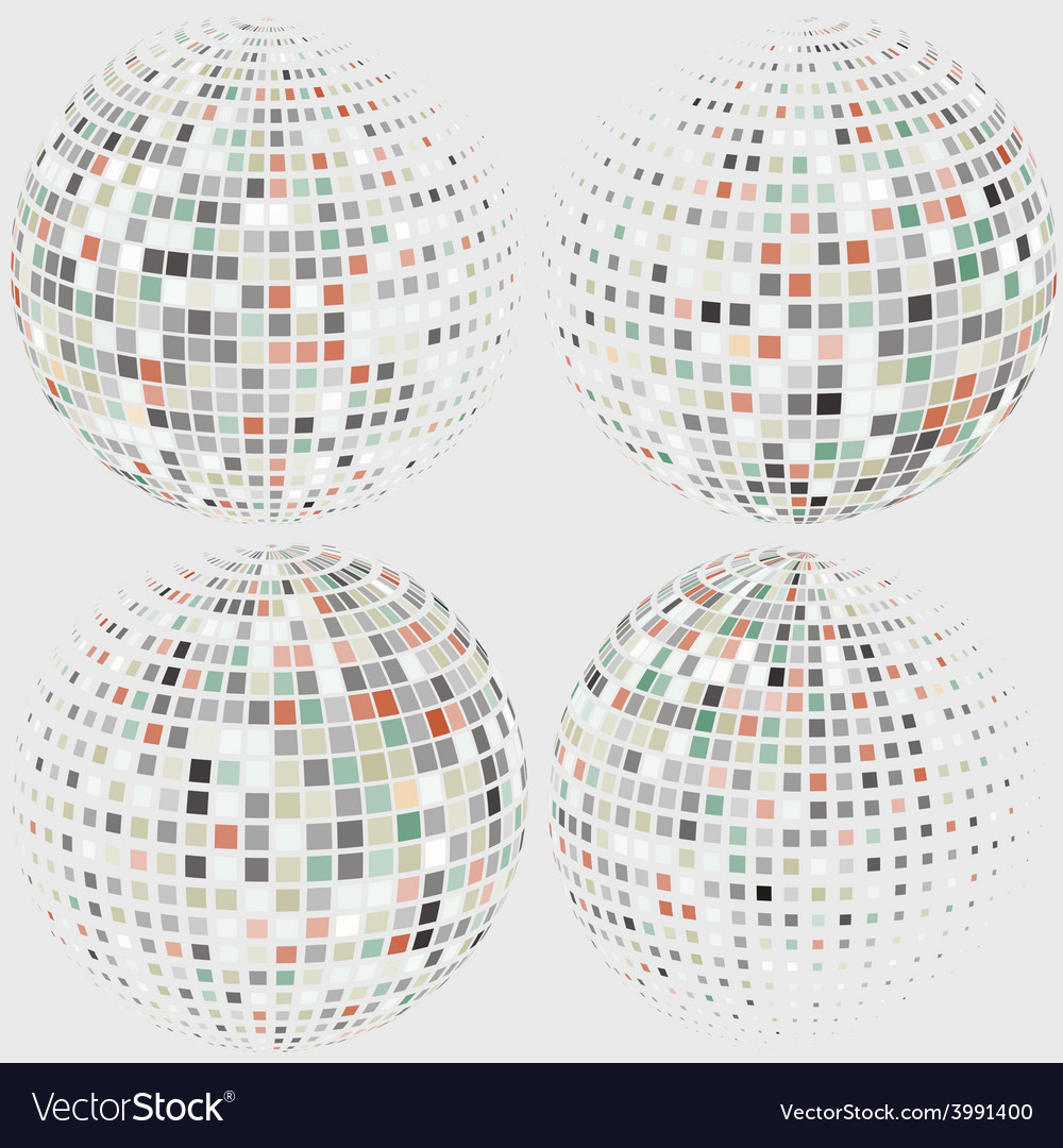 Collection of halftone sphere logo template
