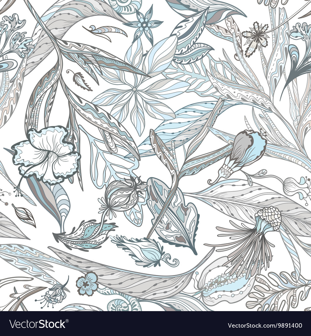Creative Pattern with Tropical Plants in