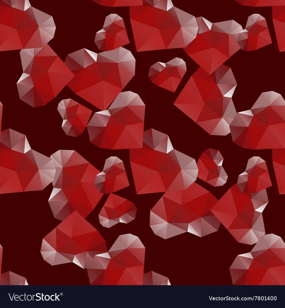 Diamond heart seamless pattern