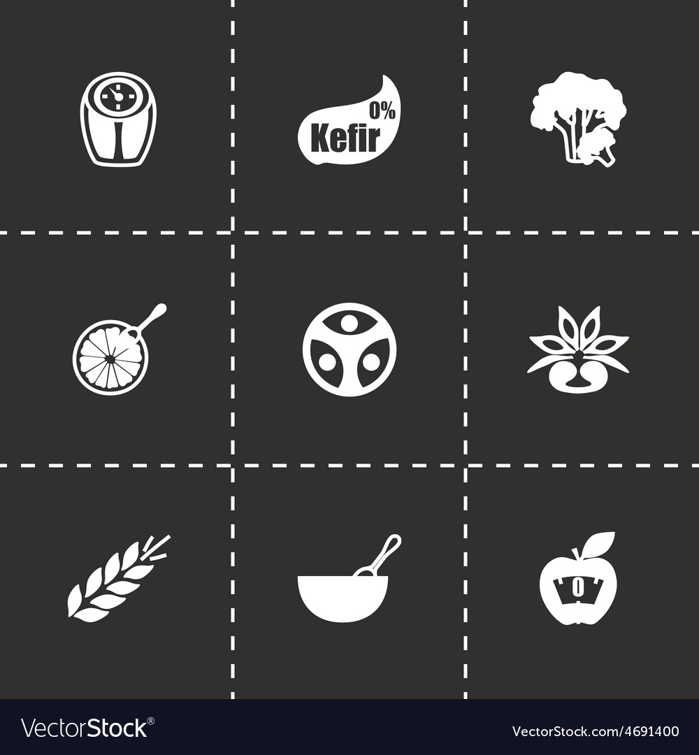 Diet icon set