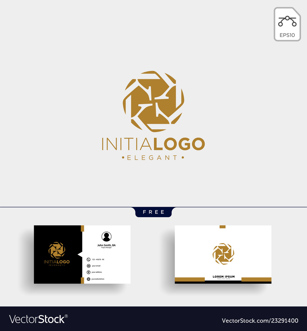 Initial k luxury logo template and business card