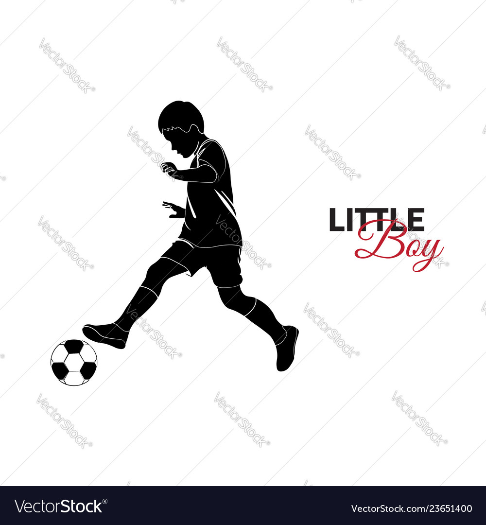 Little child baby little boy playing soccer