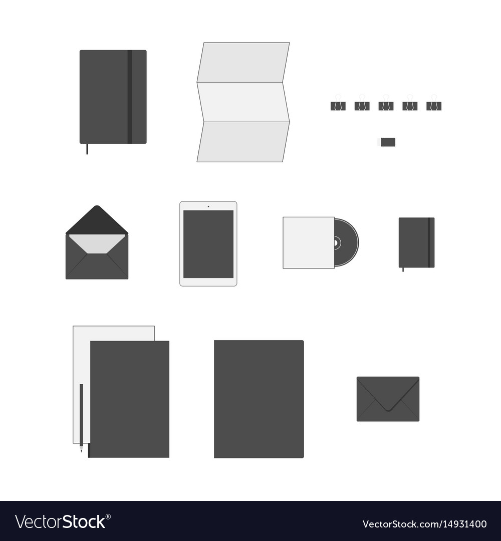 Office supply flat icons set