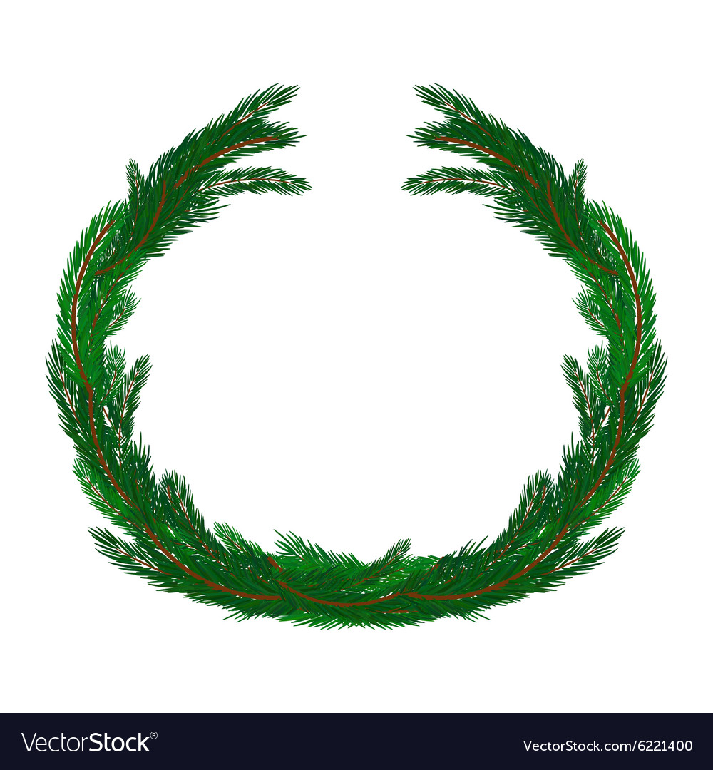 simple christmas wreath isolated on white vector image - Simple Christmas Wreaths