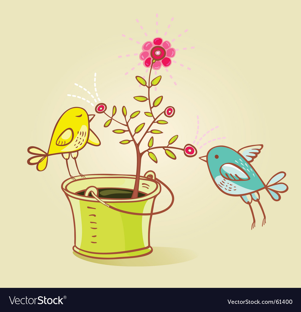 Two birds and flower aroma