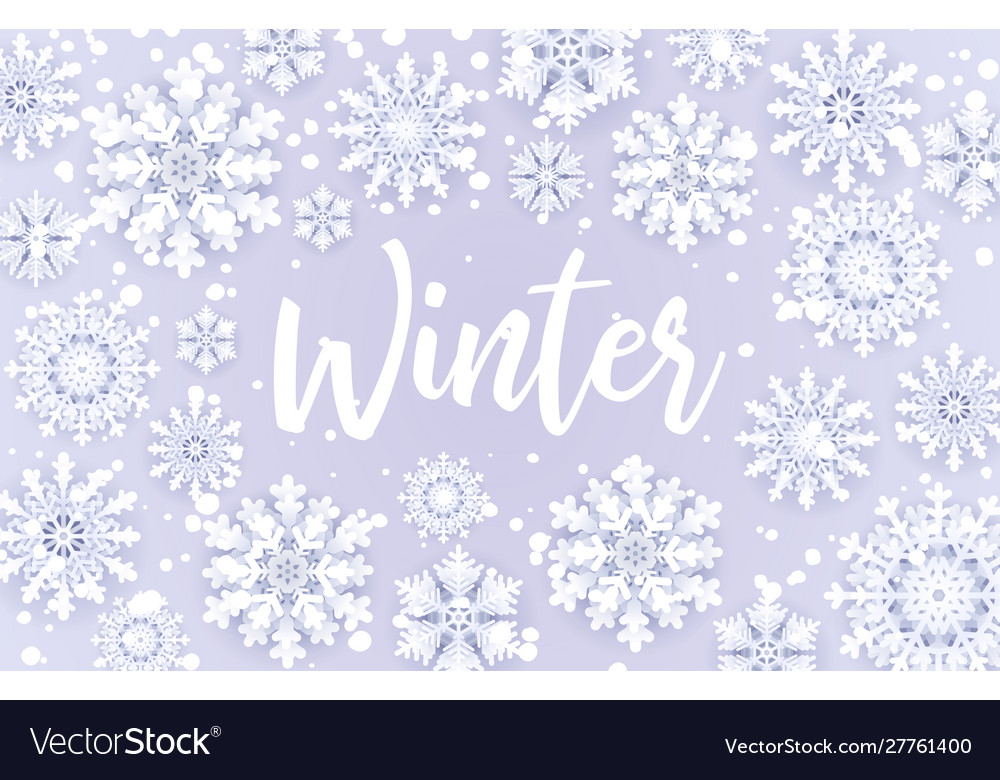Winter sale offersnowfall frame with sale text