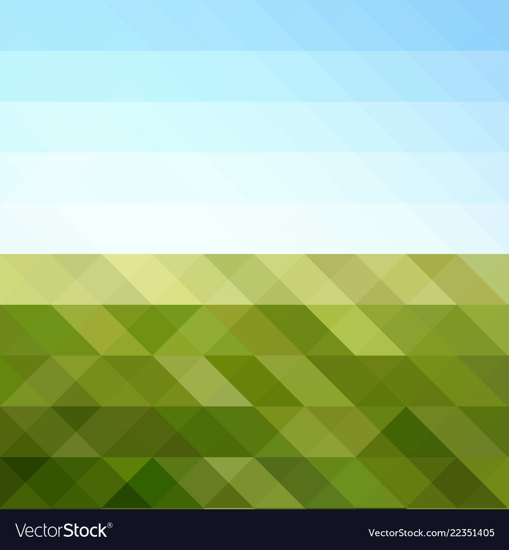 Abstract triangular mosaic in colors of sunny day