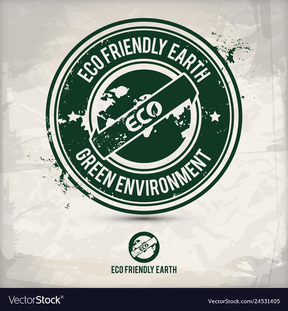 Alternative eco earth stamp