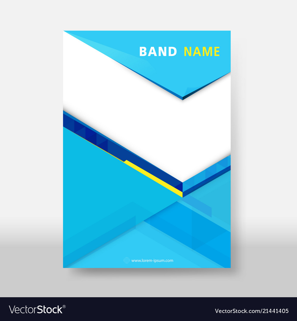 Blue and yellow business modern flyer amp poster