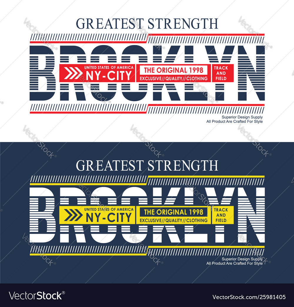 Brooklyn united states style for t shirt