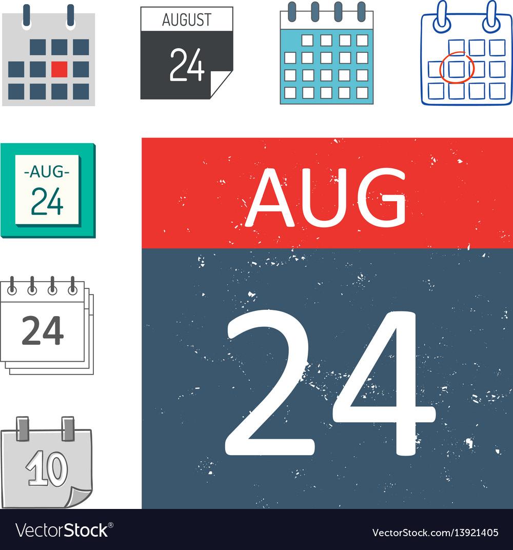 Calendar web icons office organizer