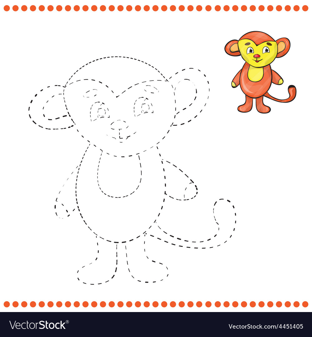 Connect The Dots And Coloring Page Royalty Free Vector Image