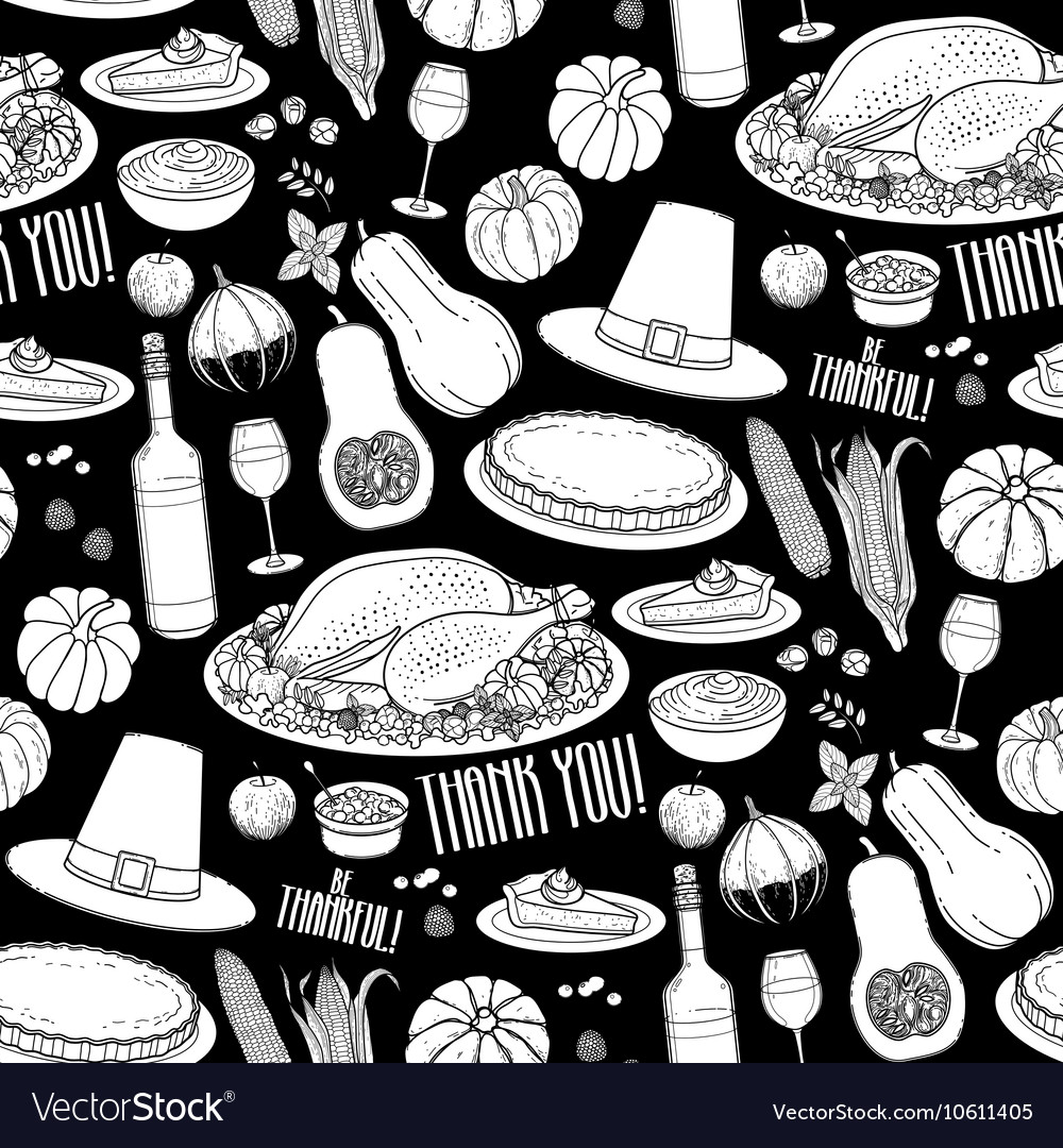 Graphic Thanksgiving day pattern