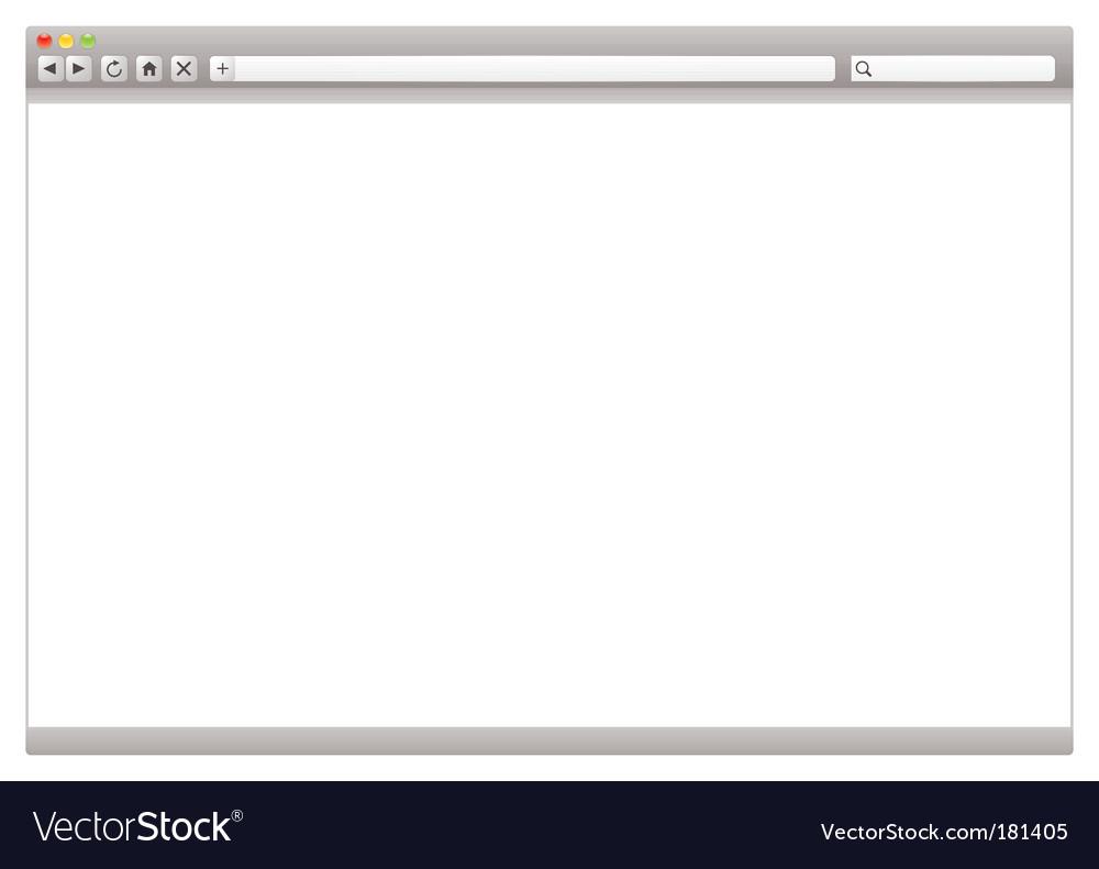 Internet web browser vector image