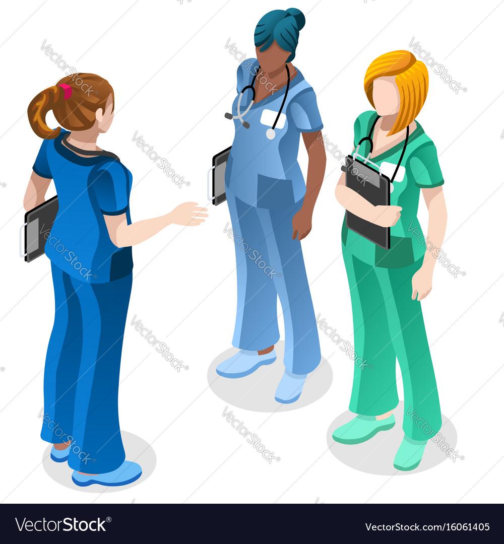 Medical nurse education doctor training isometric
